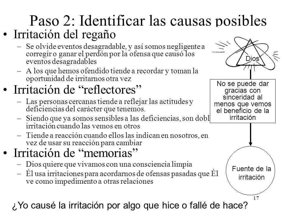 Paso 2: Identificar las causas posibles