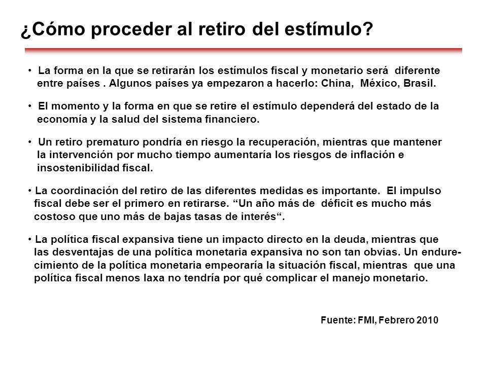 ¿Cómo proceder al retiro del estímulo