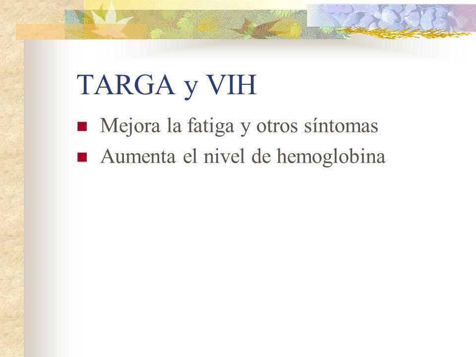 TARGA y VIH Mejora la fatiga y otros síntomas