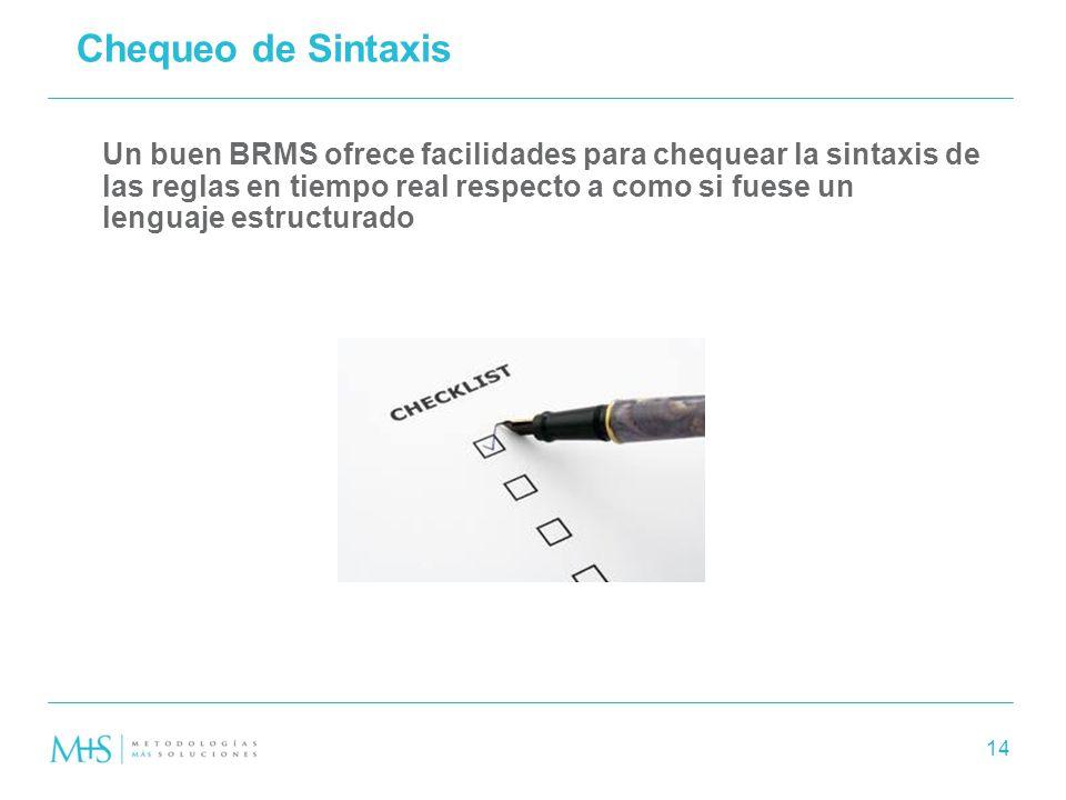 Chequeo de Sintaxis