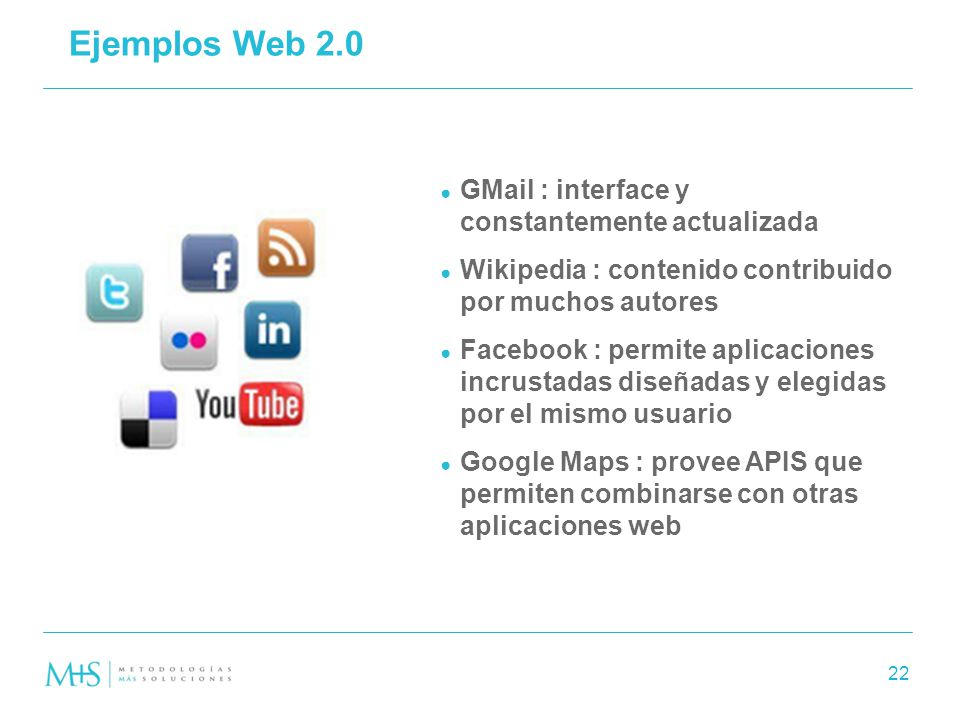 Ejemplos Web 2.0 GMail : interface y constantemente actualizada