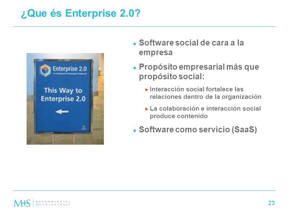 ¿Que és Enterprise 2.0 Software social de cara a la empresa