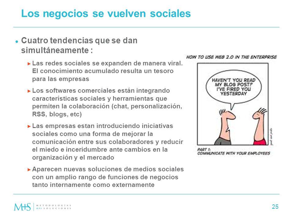Los negocios se vuelven sociales