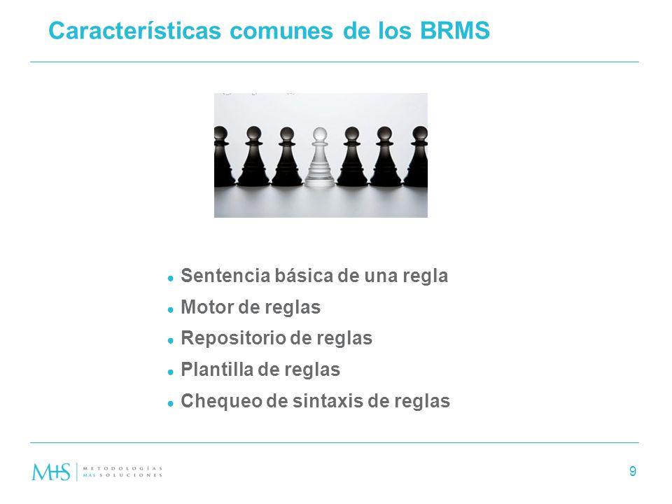 Características comunes de los BRMS