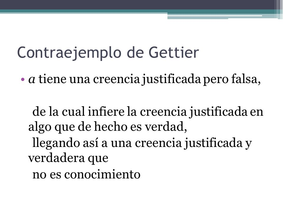 Contraejemplo de Gettier