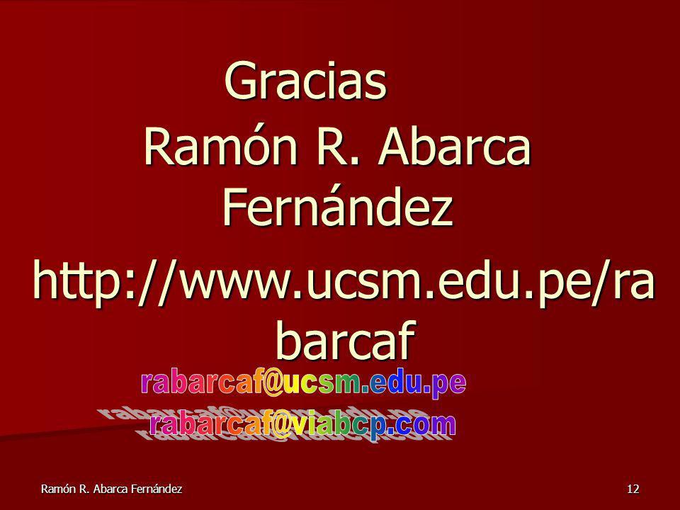Ramón R. Abarca Fernández
