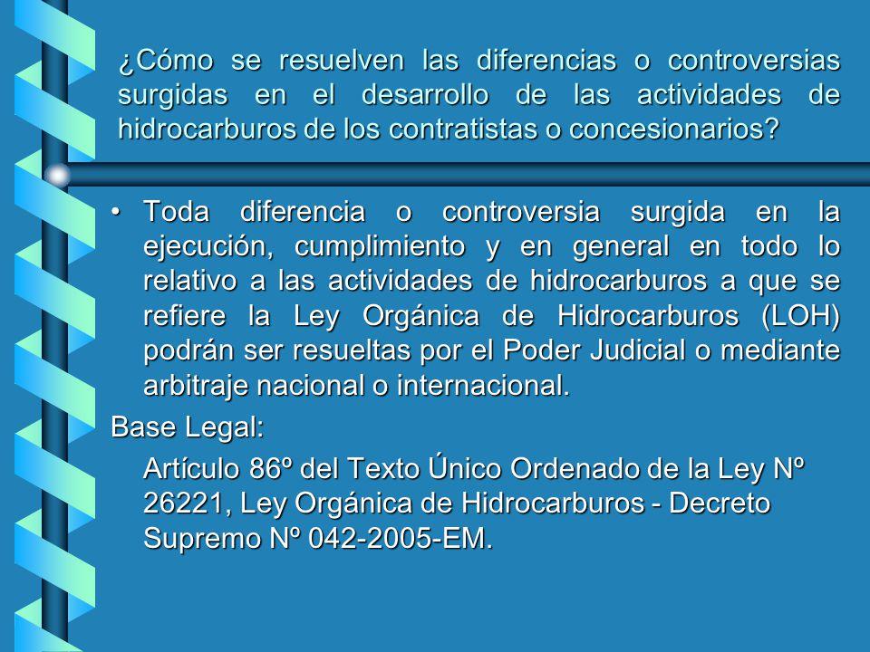 ¿Cómo se resuelven las diferencias o controversias surgidas en el desarrollo de las actividades de hidrocarburos de los contratistas o concesionarios