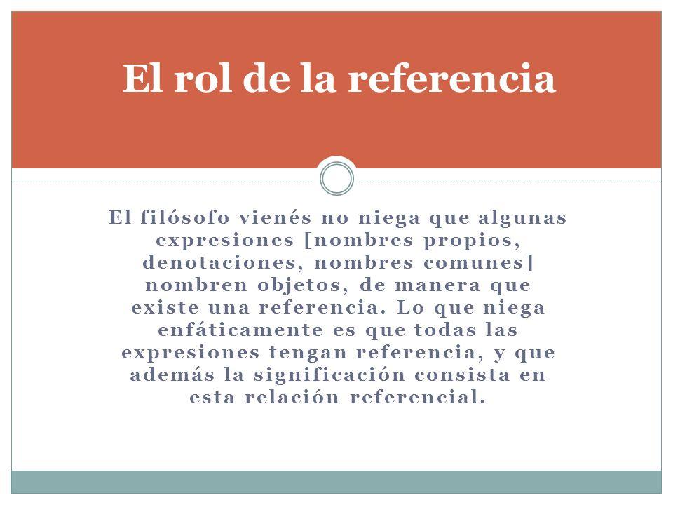 El rol de la referencia