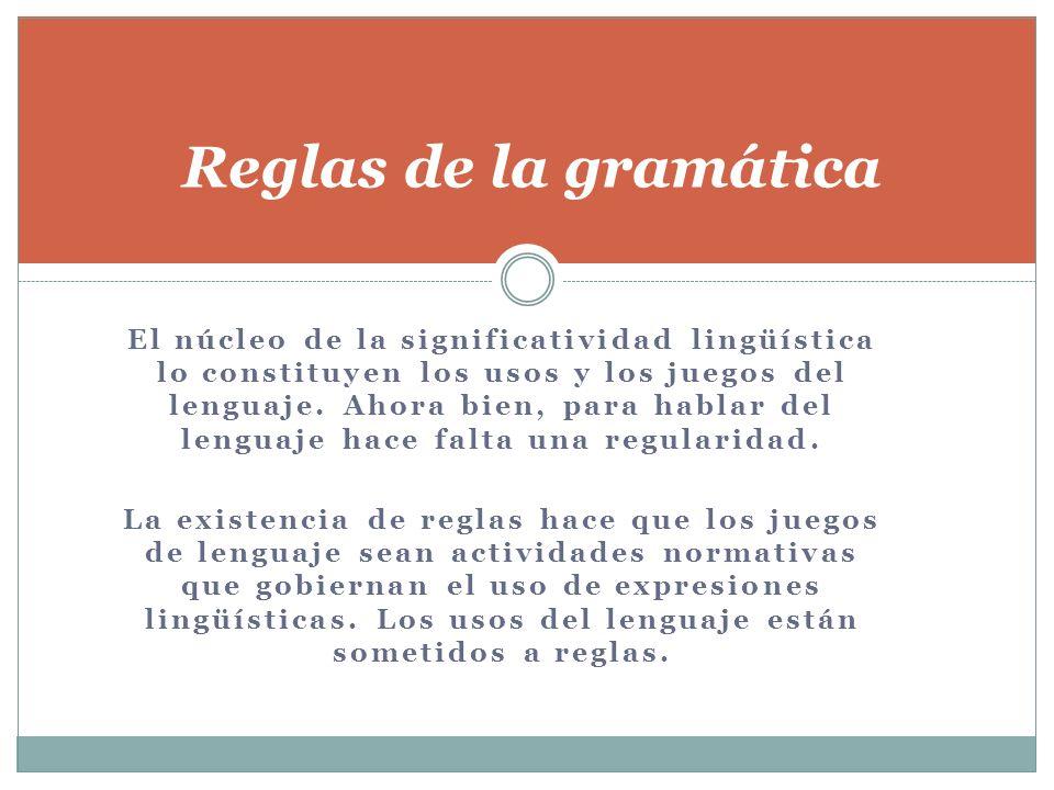 Reglas de la gramática