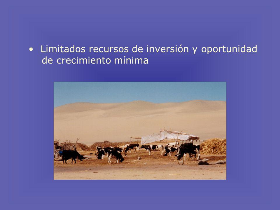 Limitados recursos de inversión y oportunidad