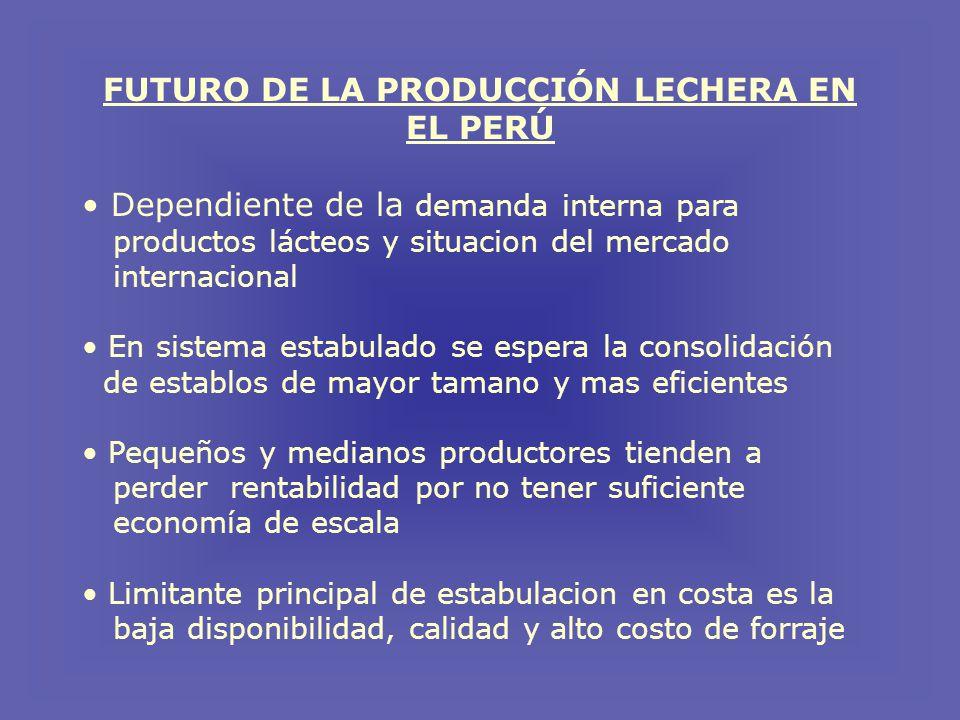 FUTURO DE LA PRODUCCIÓN LECHERA EN EL PERÚ