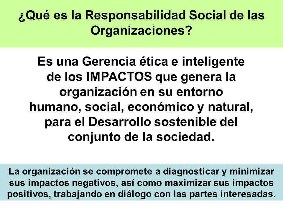 ¿Qué es la Responsabilidad Social de las Organizaciones