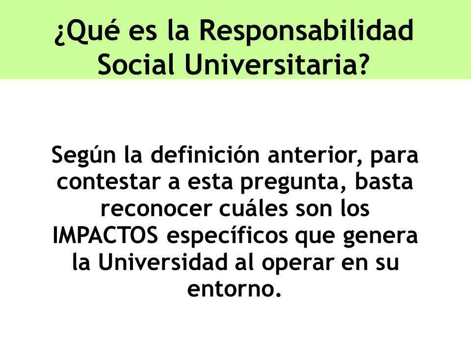 ¿Qué es la Responsabilidad Social Universitaria