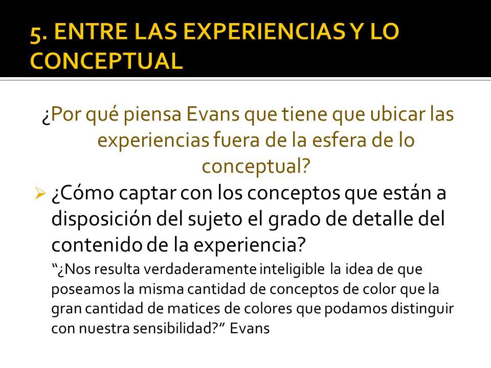 5. ENTRE LAS EXPERIENCIAS Y LO CONCEPTUAL