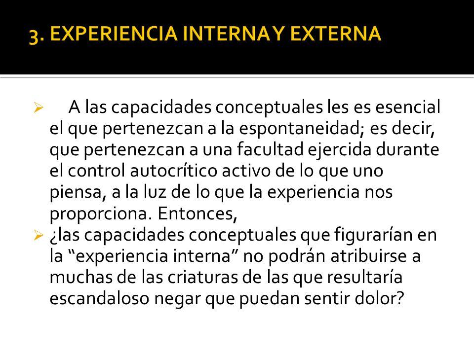 3. EXPERIENCIA INTERNA Y EXTERNA