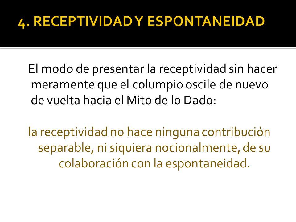4. RECEPTIVIDAD Y ESPONTANEIDAD