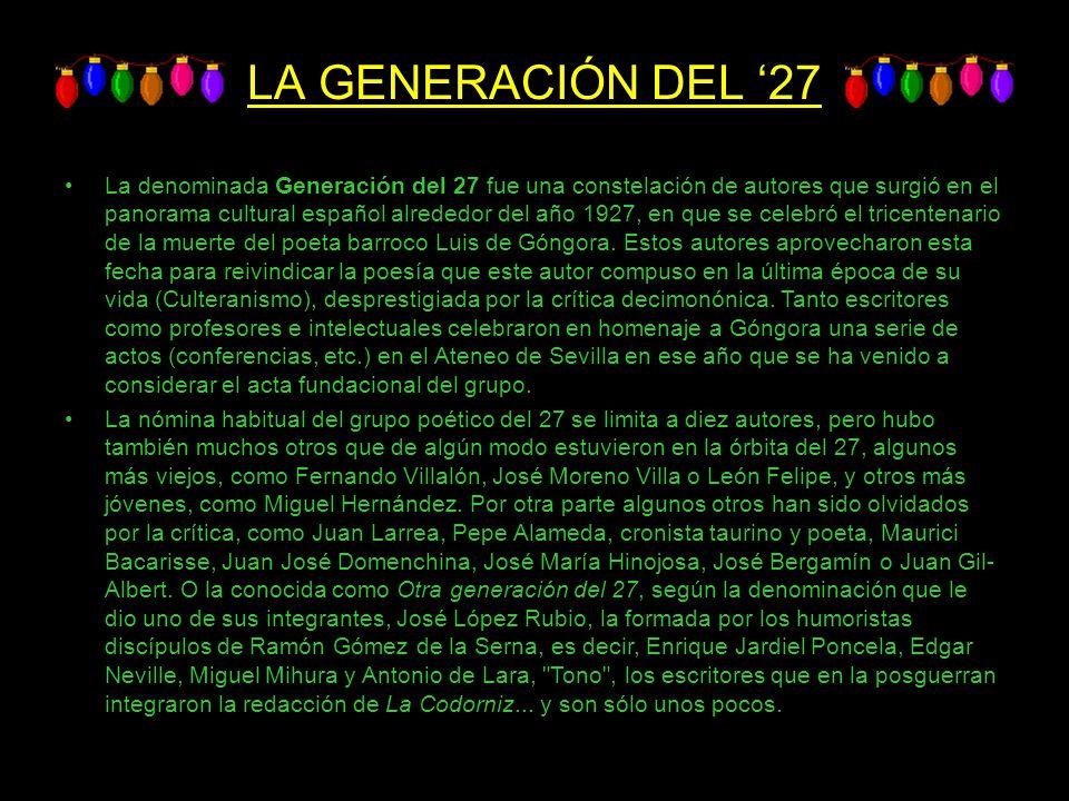 LA GENERACIÓN DEL '27
