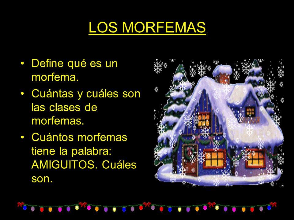 LOS MORFEMAS Define qué es un morfema.