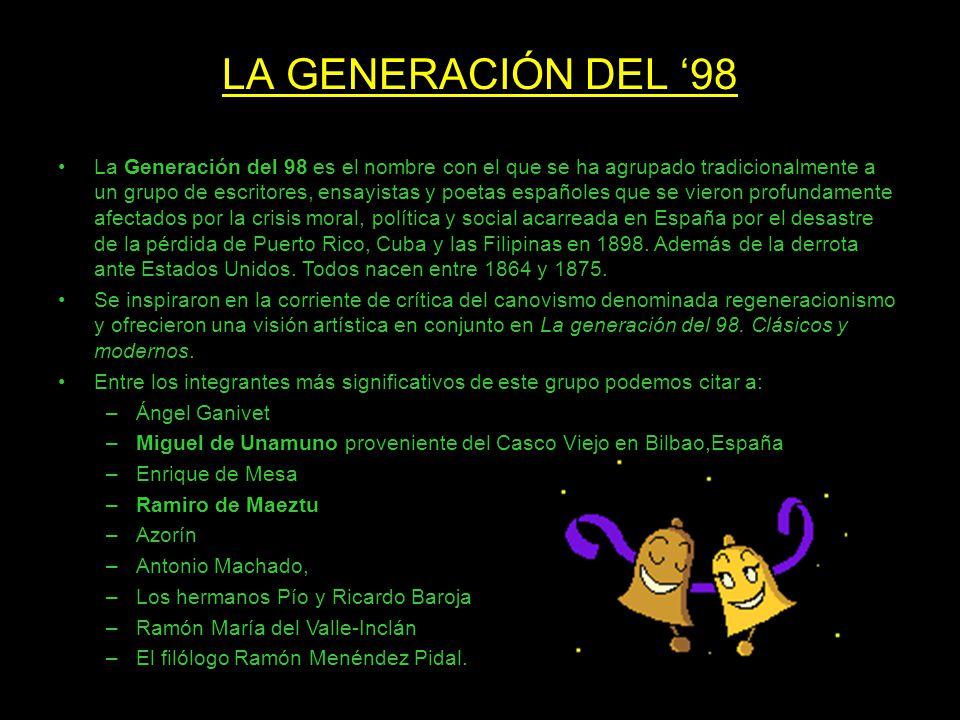 LA GENERACIÓN DEL '98