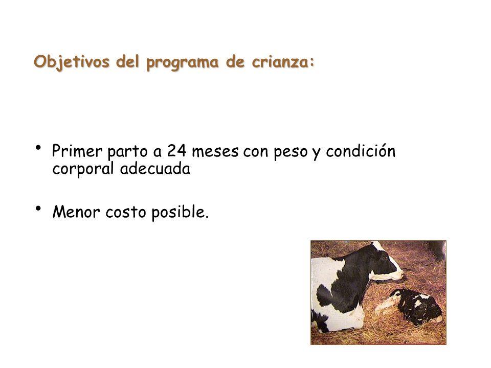 Objetivos del programa de crianza: