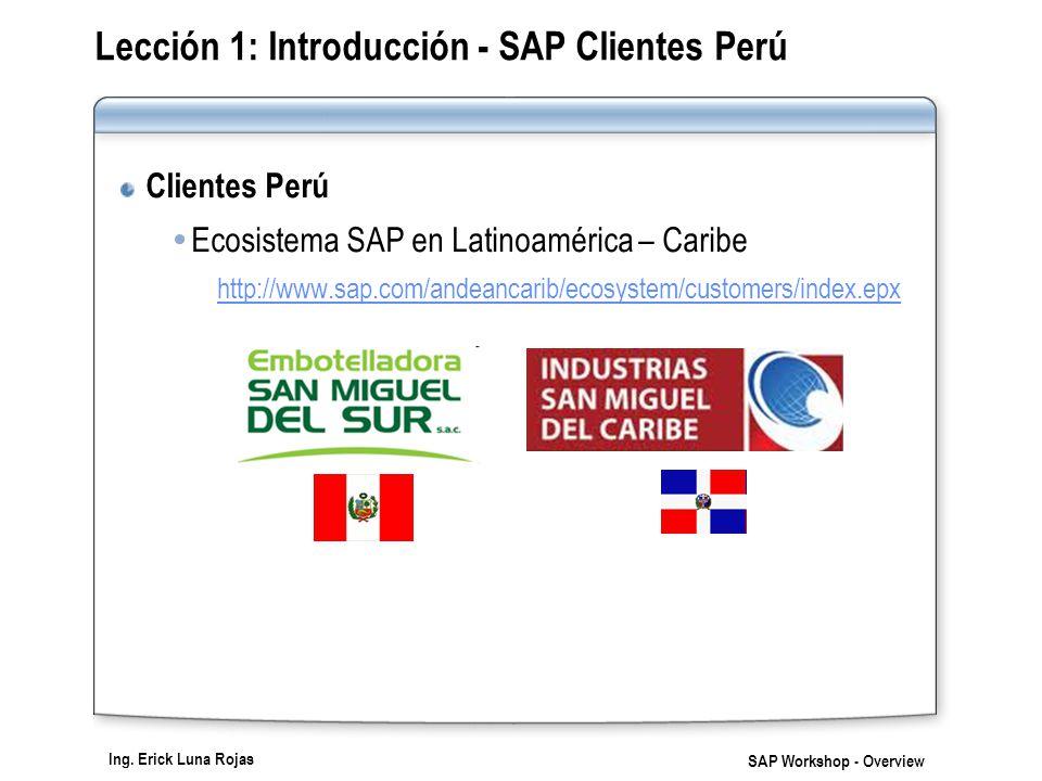 Lección 1: Introducción - SAP Clientes Perú
