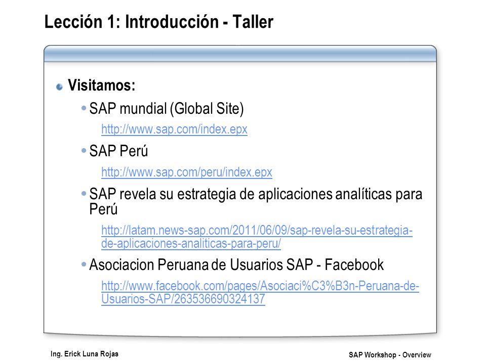 Lección 1: Introducción - Taller