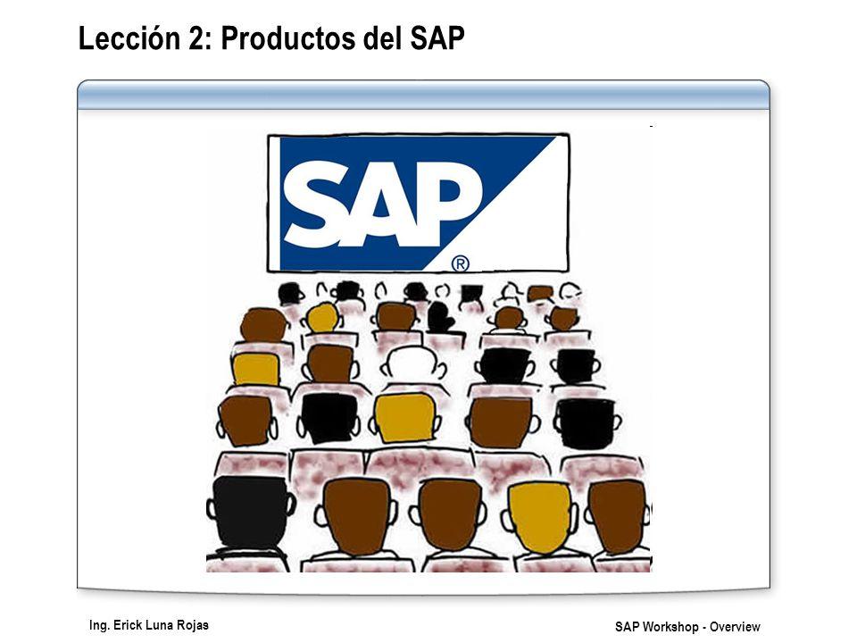 Lección 2: Productos del SAP