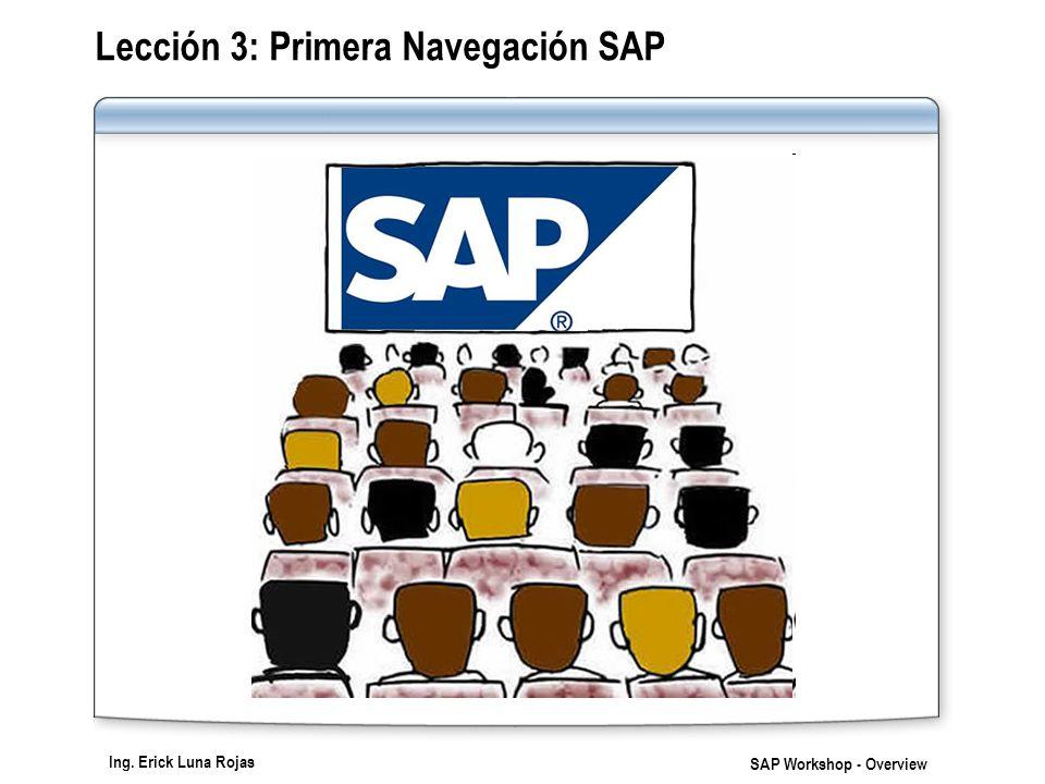 Lección 3: Primera Navegación SAP