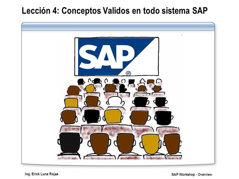 Lección 4: Conceptos Validos en todo sistema SAP