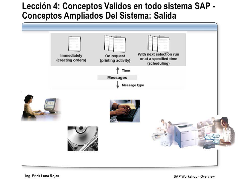 Lección 4: Conceptos Validos en todo sistema SAP - Conceptos Ampliados Del Sistema: Salida