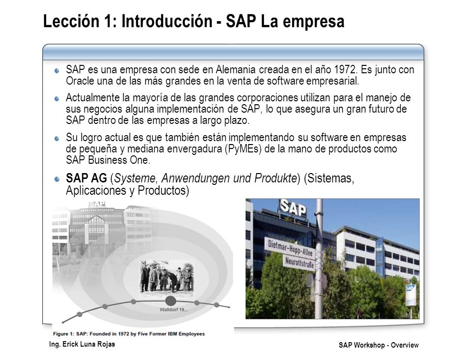 Lección 1: Introducción - SAP La empresa