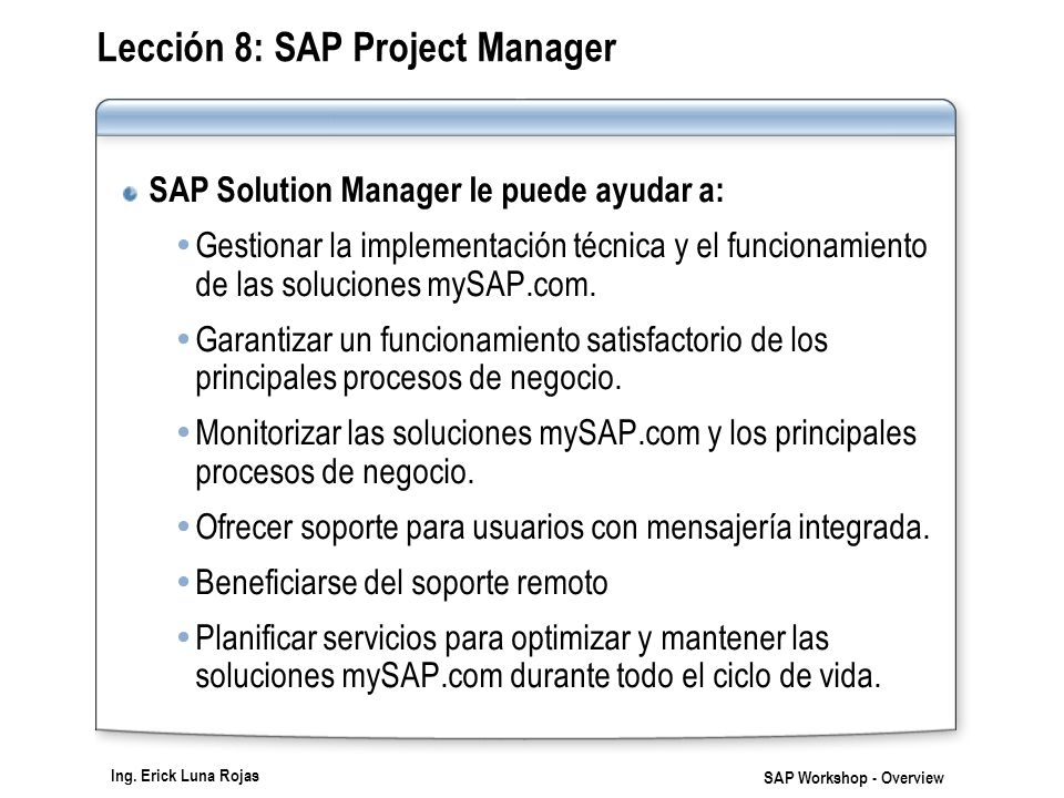 sap project manager Do you know how to identify a good sap project manager or a good sap program manager learn some of the key criteria to assess contract project and program managers.