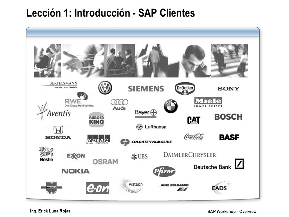 Lección 1: Introducción - SAP Clientes