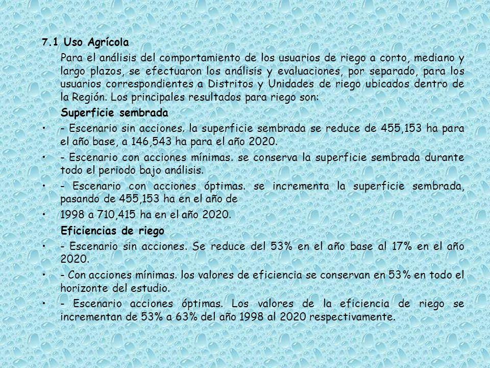 7.1 Uso Agrícola