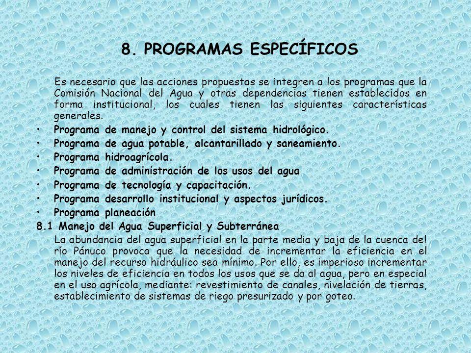 8. PROGRAMAS ESPECÍFICOS