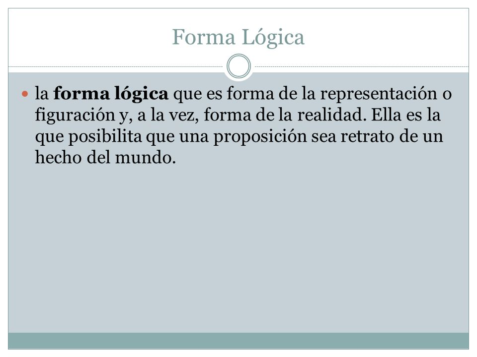 Forma Lógica