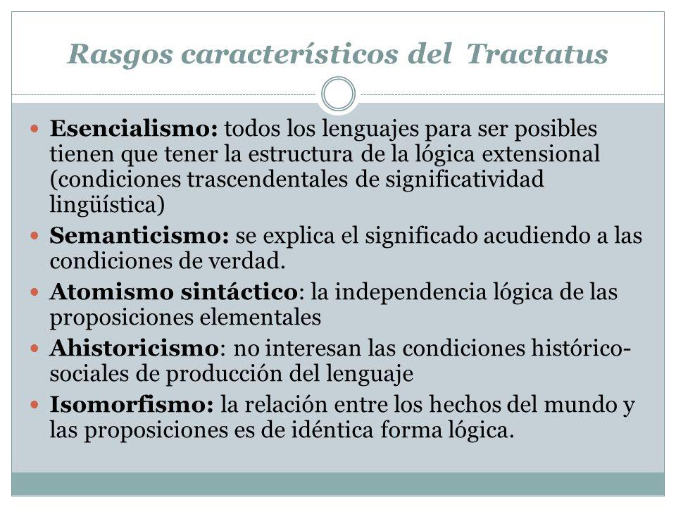 Rasgos característicos del Tractatus