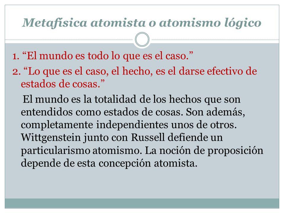 Metafísica atomista o atomismo lógico