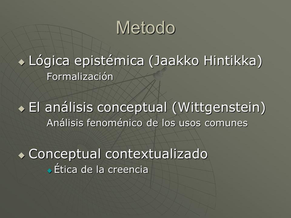 Metodo Lógica epistémica (Jaakko Hintikka)