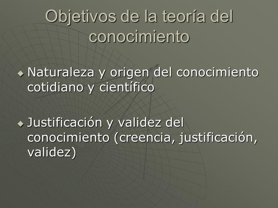 Objetivos de la teoría del conocimiento