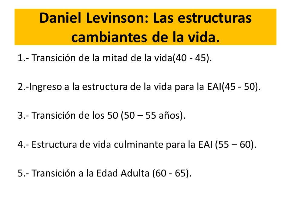 Daniel Levinson: Las estructuras cambiantes de la vida.
