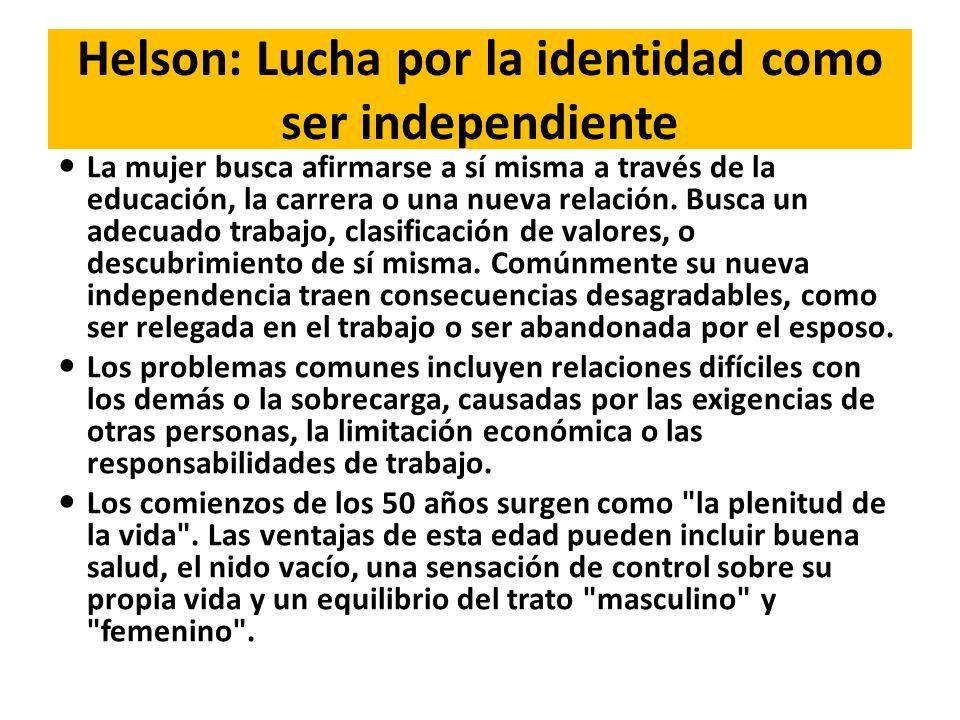 Helson: Lucha por la identidad como ser independiente