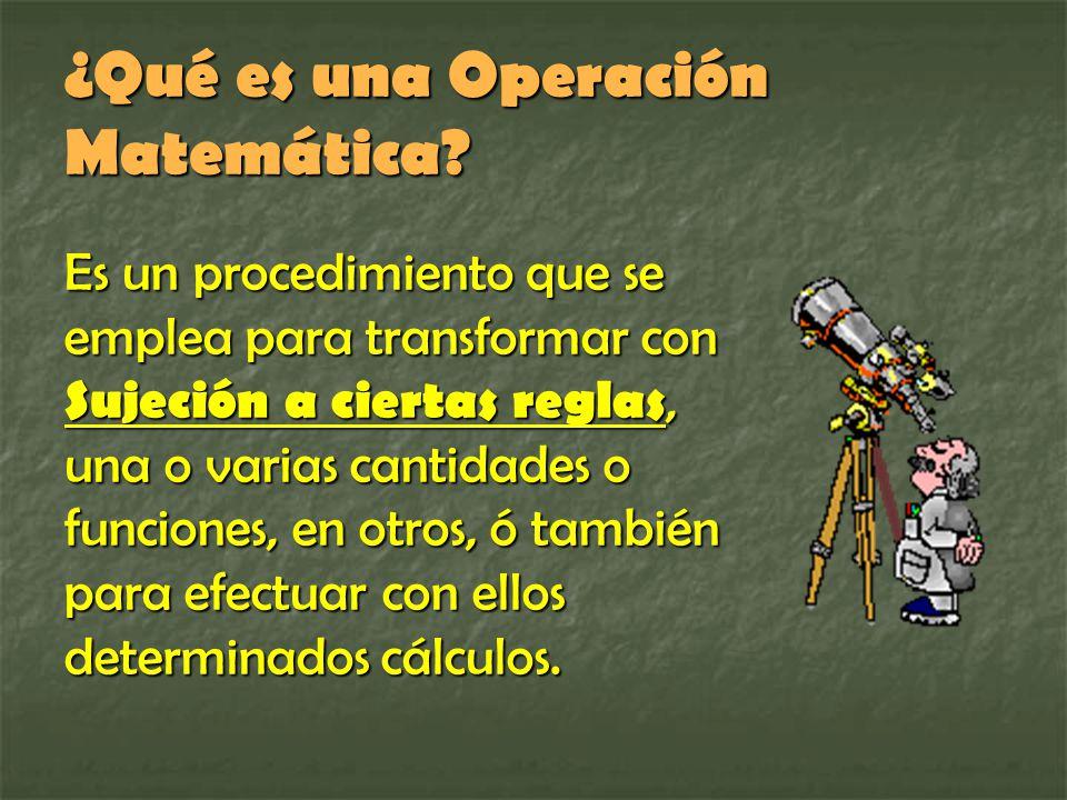 ¿Qué es una Operación Matemática