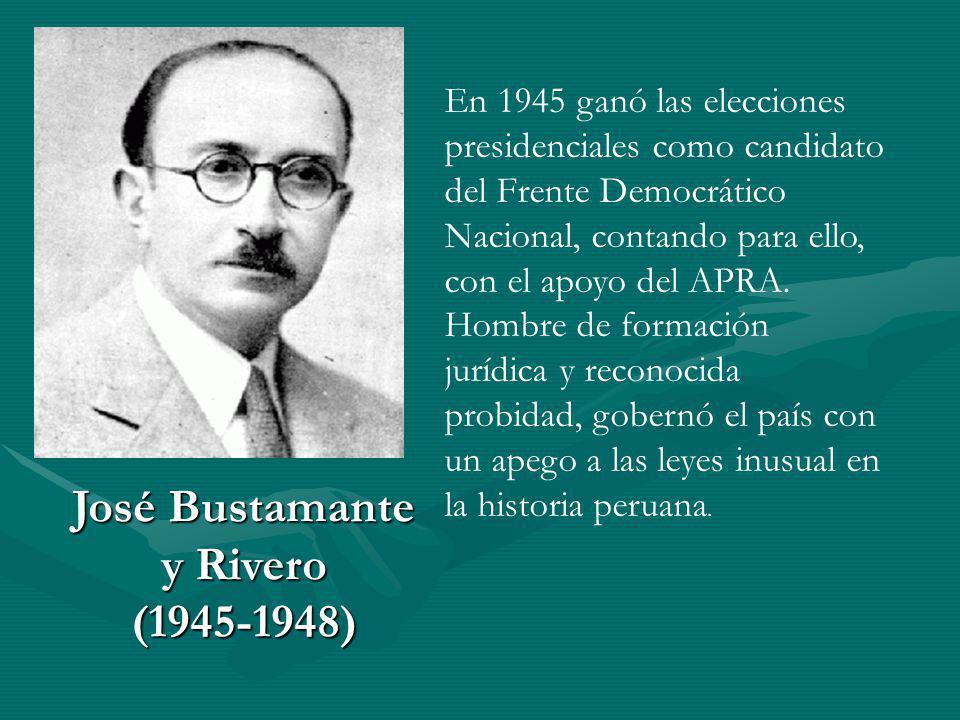 José Bustamante y Rivero (1945-1948)