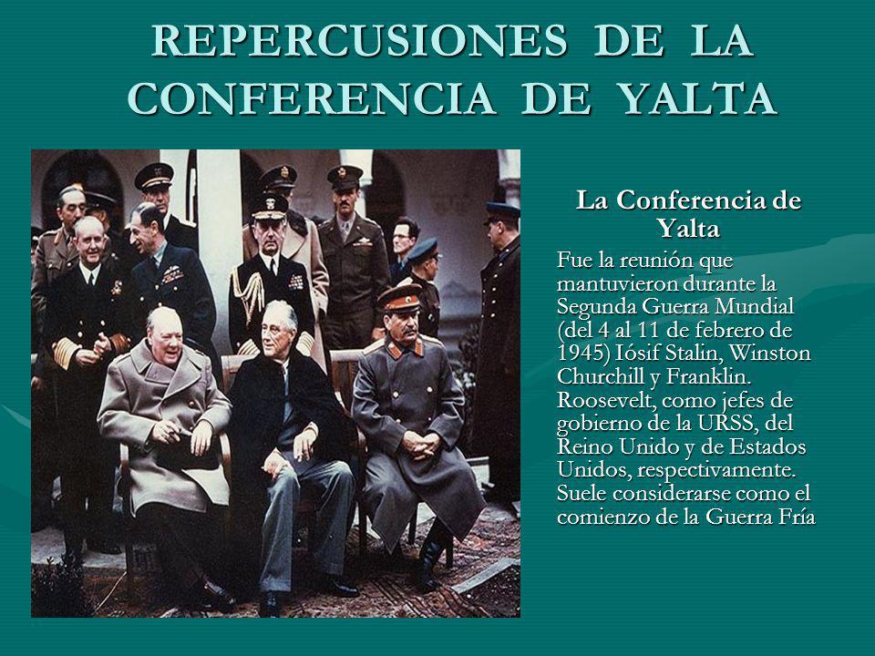 REPERCUSIONES DE LA CONFERENCIA DE YALTA