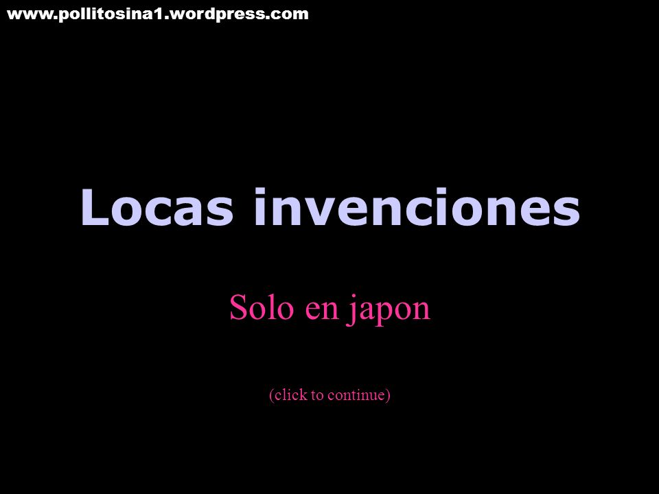 Solo en japon (click to continue)