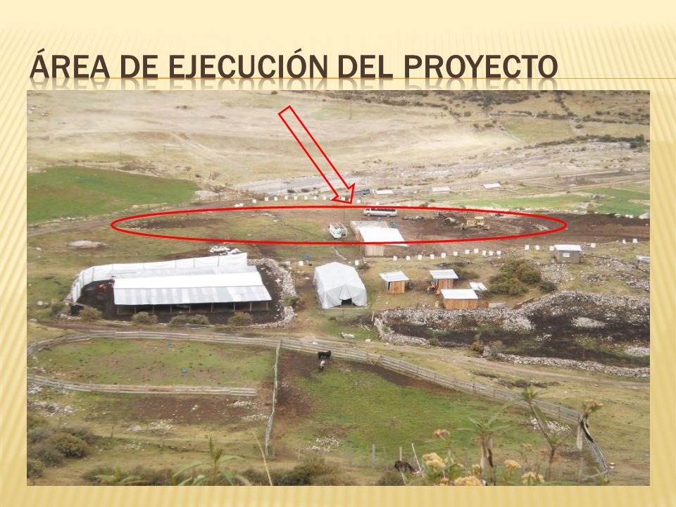 Área de ejecución del Proyecto