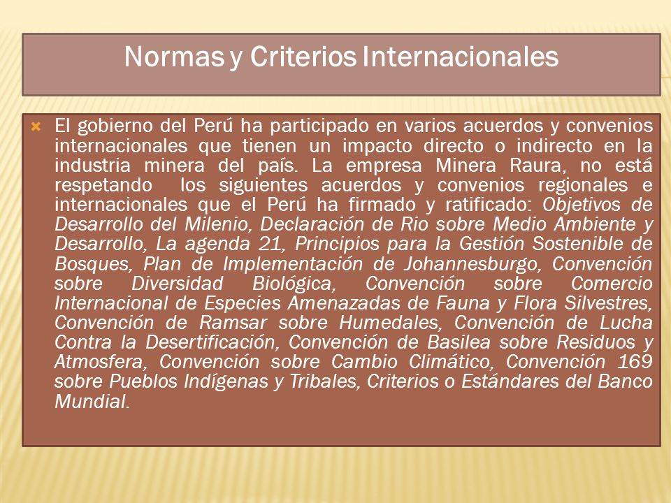 Normas y Criterios Internacionales