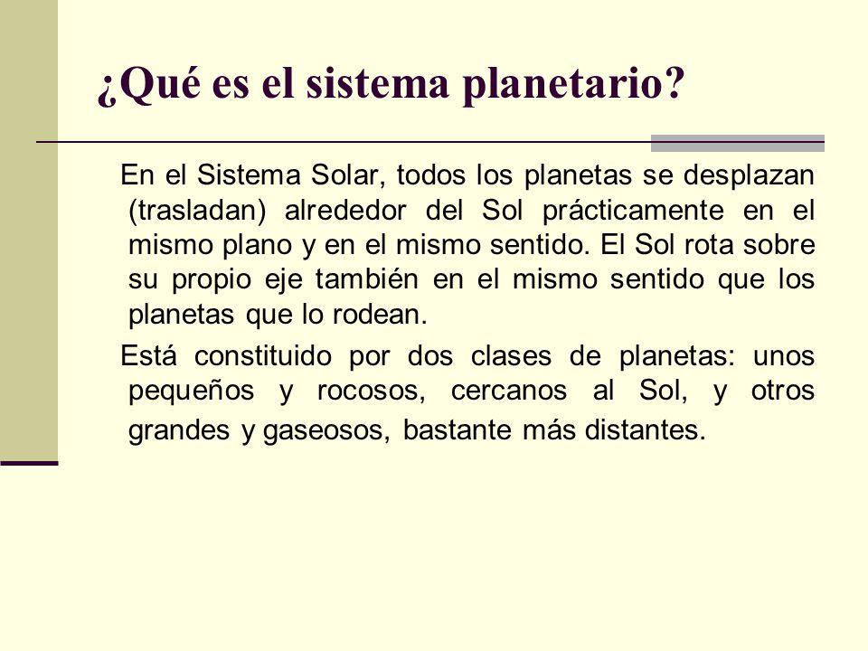 ¿Qué es el sistema planetario