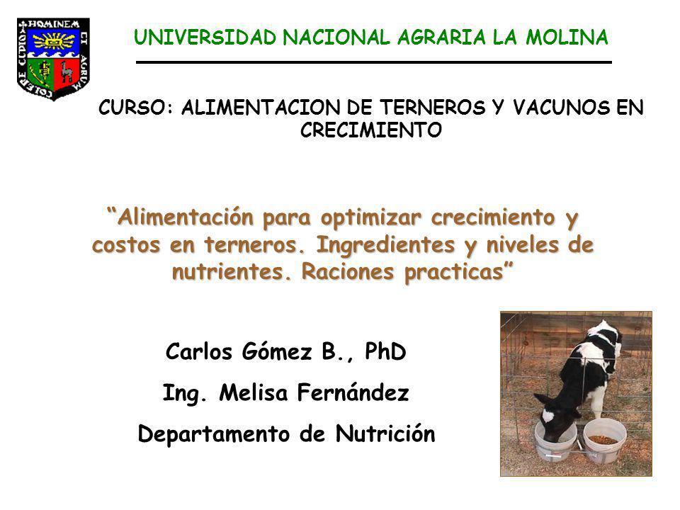 CURSO: ALIMENTACION DE TERNEROS Y VACUNOS EN CRECIMIENTO